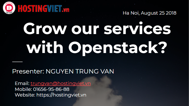 HostingViet: Grow our services with Openstack