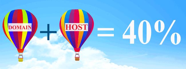 Giảm giá hosting + Tên miền