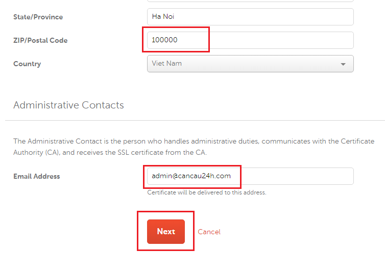 Administrative Contacts